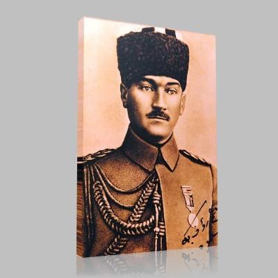 Siyah Beyaz Atatürk Resimleri  171 Kanvas Tablo