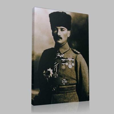 Siyah Beyaz Atatürk Resimleri  172 Kanvas Tablo
