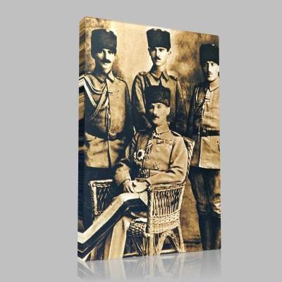 Siyah Beyaz Atatürk Resimleri  173 Kanvas Tablo