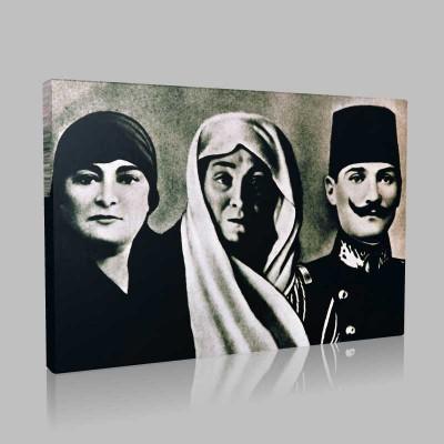 Siyah Beyaz Atatürk Resimleri  174 Kanvas Tablo