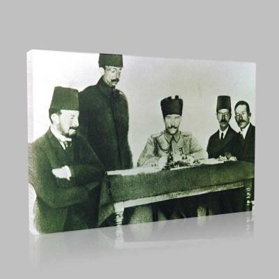 Siyah Beyaz Atatürk Resimleri  175 Kanvas Tablo