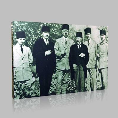 Siyah Beyaz Atatürk Resimleri  176 Kanvas Tablo