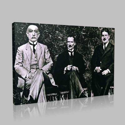 Siyah Beyaz Atatürk Resimleri  177 Kanvas Tablo