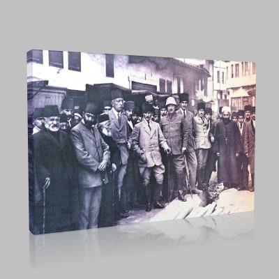 Siyah Beyaz Atatürk Resimleri  178 Kanvas Tablo