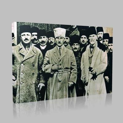 Siyah Beyaz Atatürk Resimleri  179 Kanvas Tablo