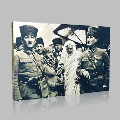 Siyah Beyaz Atatürk Resimleri  18 Kanvas Tablo