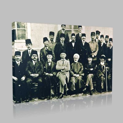Siyah Beyaz Atatürk Resimleri  180 Kanvas Tablo
