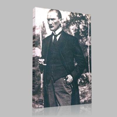 Siyah Beyaz Atatürk Resimleri  181 Kanvas Tablo