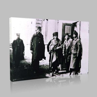 Siyah Beyaz Atatürk Resimleri  183 Kanvas Tablo