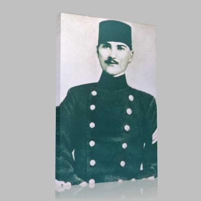 Siyah Beyaz Atatürk Resimleri  184 Kanvas Tablo