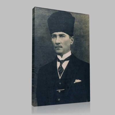 Siyah Beyaz Atatürk Resimleri  185 Kanvas Tablo