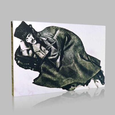 Siyah Beyaz Atatürk Resimleri  186 Kanvas Tablo