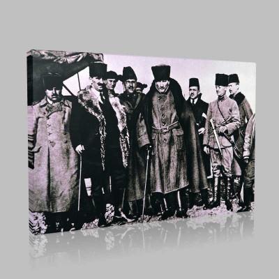 Siyah Beyaz Atatürk Resimleri  187 Kanvas Tablo