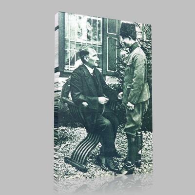 Siyah Beyaz Atatürk Resimleri  188 Kanvas Tablo