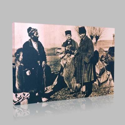Siyah Beyaz Atatürk Resimleri  189 Kanvas Tablo