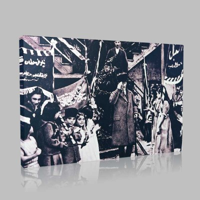 Siyah Beyaz Atatürk Resimleri  19 Kanvas Tablo