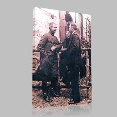 Siyah Beyaz Atatürk Resimleri  190 Kanvas Tablo