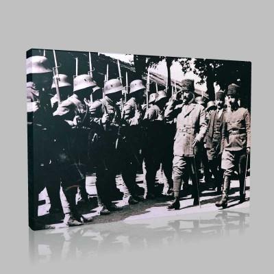Siyah Beyaz Atatürk Resimleri  191 Kanvas Tablo