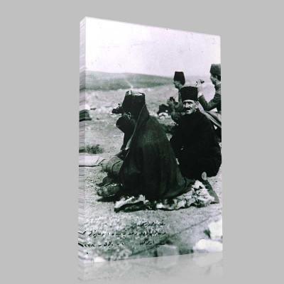 Siyah Beyaz Atatürk Resimleri  192 Kanvas Tablo