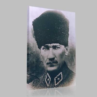 Siyah Beyaz Atatürk Resimleri  193 Kanvas Tablo