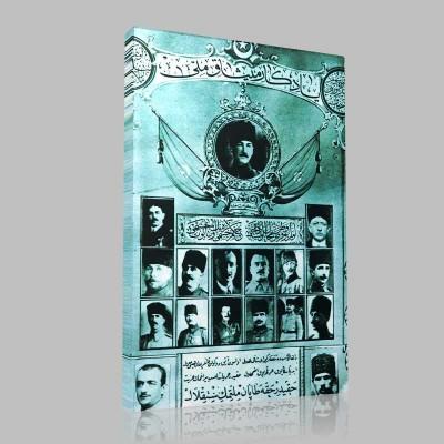 Siyah Beyaz Atatürk Resimleri  194 Kanvas Tablo