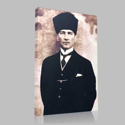 Siyah Beyaz Atatürk Resimleri  195 Kanvas Tablo