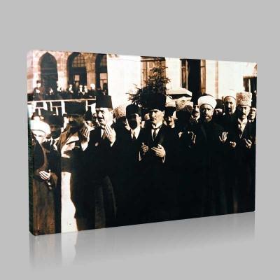 Siyah Beyaz Atatürk Resimleri  196 Kanvas Tablo