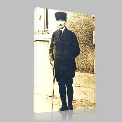 Siyah Beyaz Atatürk Resimleri  197 Kanvas Tablo