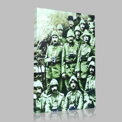 Siyah Beyaz Atatürk Resimleri  2 Kanvas Tablo