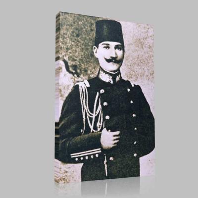 Siyah Beyaz Atatürk Resimleri  202 Kanvas Tablo