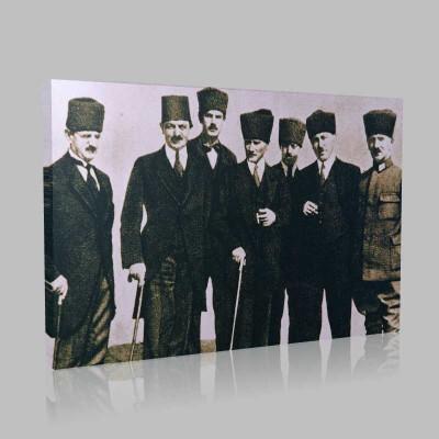 Siyah Beyaz Atatürk Resimleri  203 Kanvas Tablo