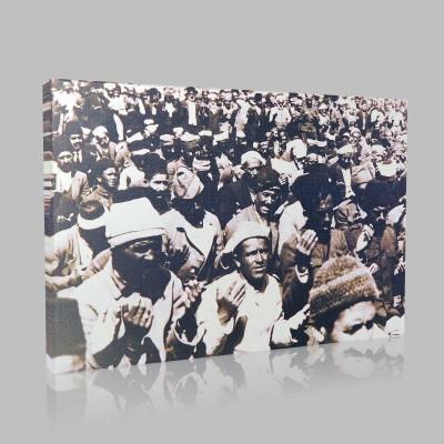 Siyah Beyaz Atatürk Resimleri  204 Kanvas Tablo