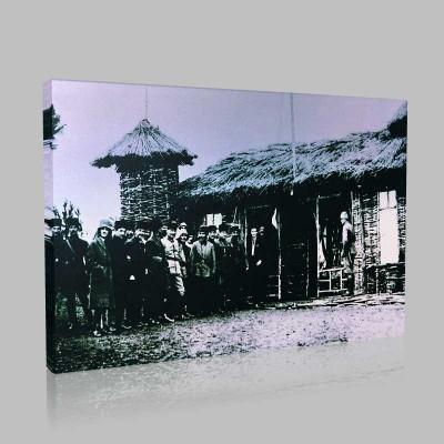 Siyah Beyaz Atatürk Resimleri  206 Kanvas Tablo