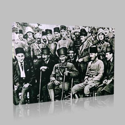 Siyah Beyaz Atatürk Resimleri  207 Kanvas Tablo