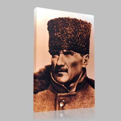 Siyah Beyaz Atatürk Resimleri  208 Kanvas Tablo