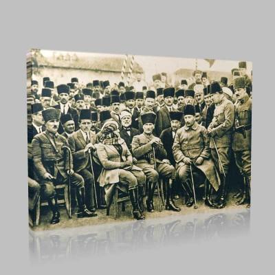Siyah Beyaz Atatürk Resimleri  21 Kanvas Tablo