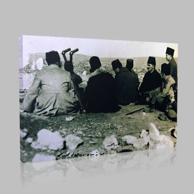 Siyah Beyaz Atatürk Resimleri  211 Kanvas Tablo