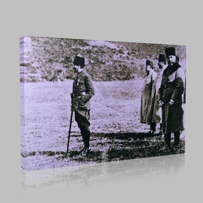 Siyah Beyaz Atatürk Resimleri  213 Kanvas Tablo