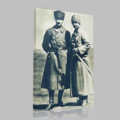 Siyah Beyaz Atatürk Resimleri  214 Kanvas Tablo