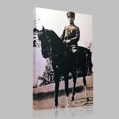 Siyah Beyaz Atatürk Resimleri  215 Kanvas Tablo