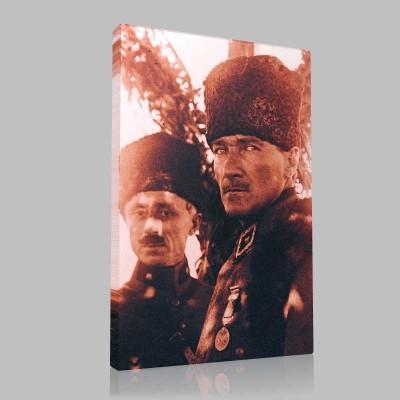 Siyah Beyaz Atatürk Resimleri  216 Kanvas Tablo