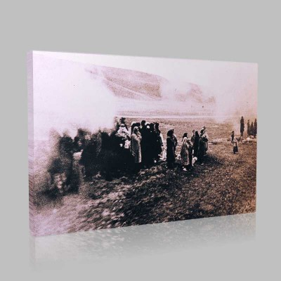Siyah Beyaz Atatürk Resimleri  217 Kanvas Tablo