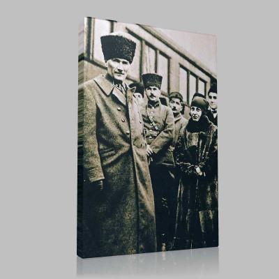 Siyah Beyaz Atatürk Resimleri  219 Kanvas Tablo