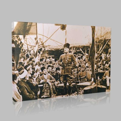 Siyah Beyaz Atatürk Resimleri  22 Kanvas Tablo