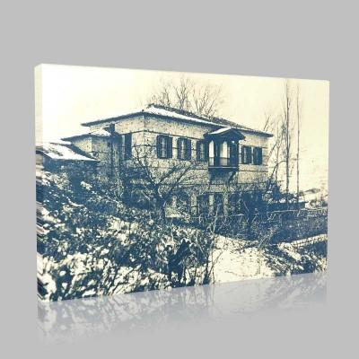 Siyah Beyaz Atatürk Resimleri  222 Kanvas Tablo