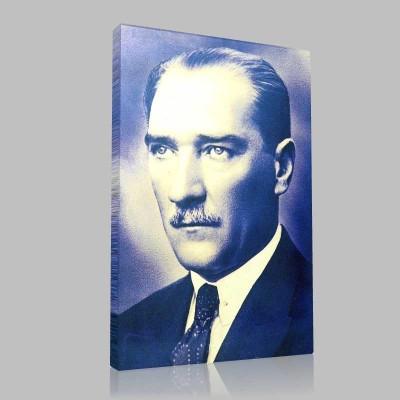Siyah Beyaz Atatürk Resimleri  223 Kanvas Tablo