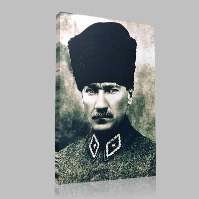 Siyah Beyaz Atatürk Resimleri  225 Kanvas Tablo