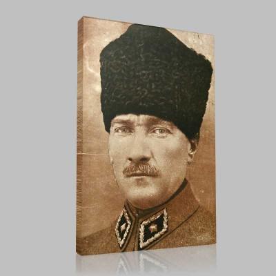 Siyah Beyaz Atatürk Resimleri  226 Kanvas Tablo