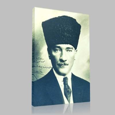 Siyah Beyaz Atatürk Resimleri  227 Kanvas Tablo
