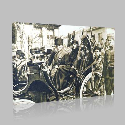 Siyah Beyaz Atatürk Resimleri  23 Kanvas Tablo